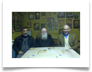 With friends, Archimandrite Raphael Karelin and Pierre Alexievitch Orloff, Honorary Consul of the Kingdom of Belgium